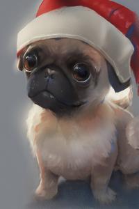 1440x2560 Pug Merry Christmas