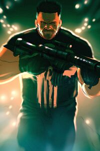320x480 Punisher 5k Artwork