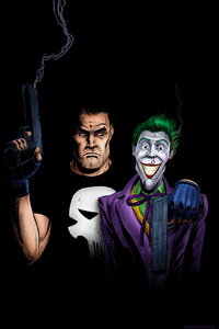 720x1280 Punisher And Joker Artwork 4k