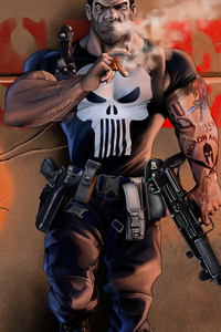 1440x2960 Punisher Comic Book Marvel 4k