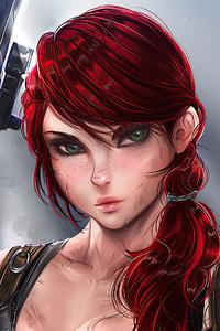 1125x2436 Punisher Girl With Gun