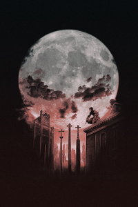 480x854 Punisher Halloween Art 4k