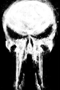 1125x2436 Punisher Paint Art
