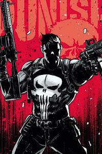 1125x2436 Punisher Red Fanart 4k