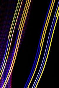 Purple And White Light Digital Art 5k