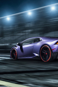 Purple Lamborghini 4k 2019 New