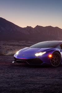 Purple Lamborghini 4k