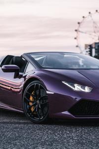 240x320 Purple Lamborghini Huracan 5k