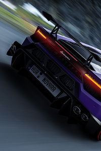 Purple Lamborghini Rear