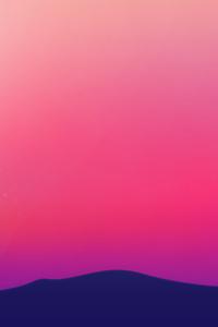 Purple Landscape Scenery Minimalist 4k