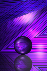 1242x2688 Purple Lines And Ball 5k