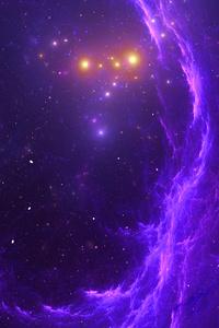 1440x2560 Purple Nebula Haze Stars 4k