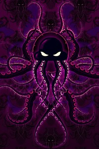 Purple Octopus Art