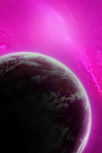640x960 Purple Planet 4k