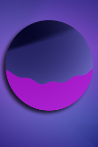 320x480 Purple Planet 5k
