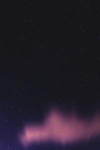 240x400 Purple Starry Sky 5k