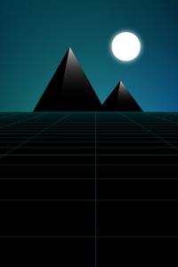 720x1280 Pyramid Synthwave Minimal 8k