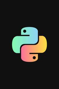 480x800 Python Logo 4k