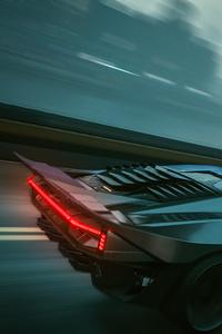 Quadra Turbo Neon Cyberpunk 2077 Rainy Ride 5k