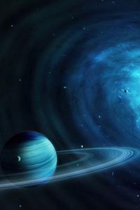 1125x2436 Quasar Scifi 4k