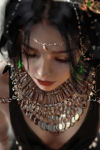 1125x2436 Queen Black Dress 5k