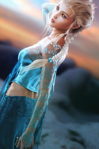 Queen Elsa Fantasy Art
