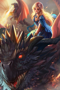 540x960 Queen Of Dragons 4k