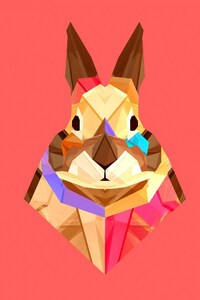 480x854 Rabbit Vector