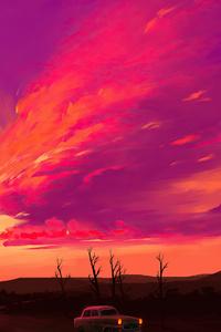 1242x2688 Radiant Sunset 4k