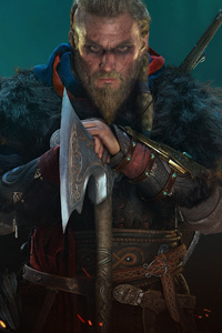 1080x1920 Ragnar Lothbrok Assassins Creed Valhalla 4k Game 2020