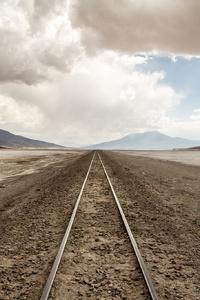 Railway Line Desert Nature Landscape