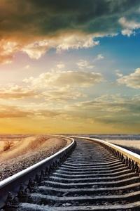 540x960 Railway Track 4k