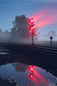 1080x2160 Railway Track Light Exposure
