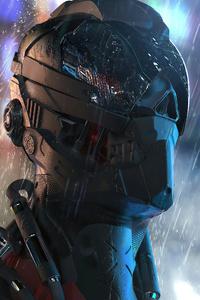 Rain Cyborg Robot 4k