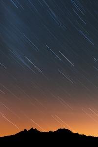 1080x1920 Rain Of Stars Over Swiss Alps 5k