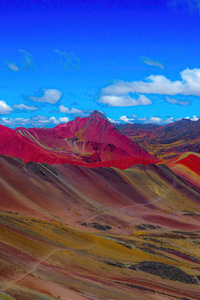 240x400 Rainbow Mountains In Peru 4k
