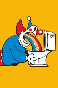 Rainbow Spitting Clown