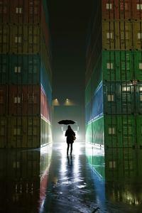 1125x2436 Rainy Night 5k