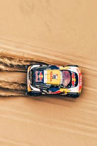 Rally Car In Desert 4k