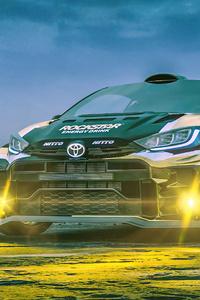 640x960 Rallycross Toyota Yaris 5k