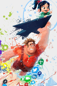Ralph Breaks The Internet Wreck It Art