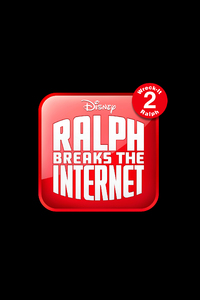 1242x2688 Ralph Breaks The Internet Wreck It Ralph 2 12k Logo