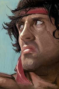 2160x3840 Rambo Sylvester Stallone Artwork 4k