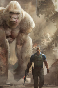 240x320 Rampage Movie Art