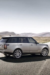 Range Rover On Alone Road