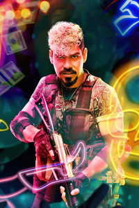 750x1334 Raul Castillo As Mikey Guzman In Army Of The Dead Character Poster 5k