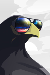 1440x2560 Raven Chilling 4k