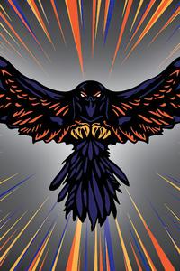 640x1136 Raven Coin Logo