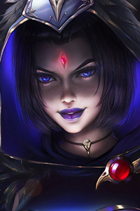 320x480 Raven Girl