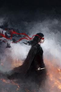 Raven Girl Fantasy Horror